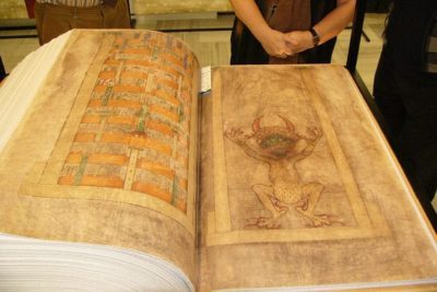 Life size replica of Codex Gigas.