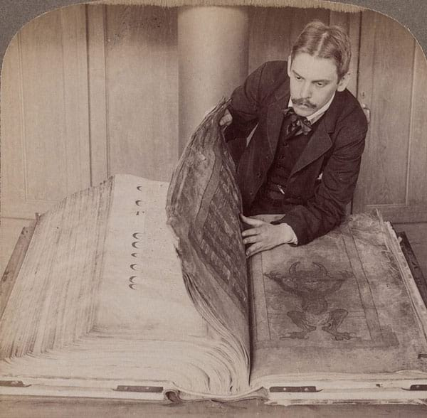 Codex Gigas, also known as Devil's Bible.