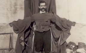 Franz Reichelt with his designed suit.