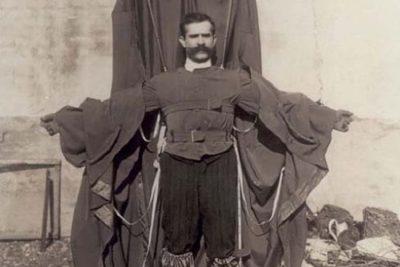 Franz Reichelt with his designed suit.
