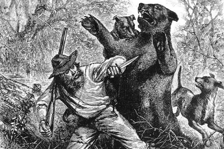 Hugh Glass: Illustration published in the newspaper