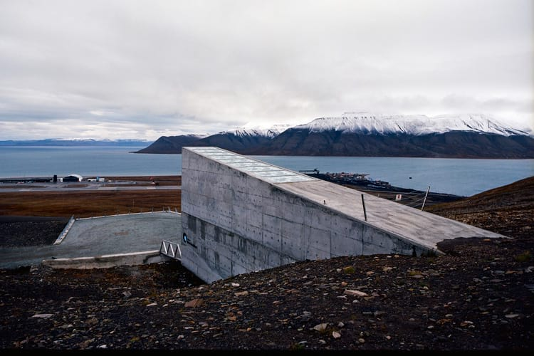 Doomsday vault: Global seed bank from a different angle.