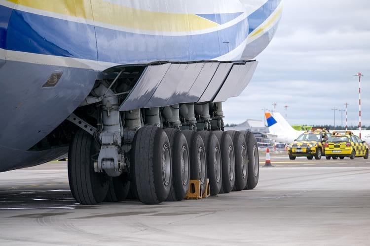 The main landing gear of Antonov An-225.