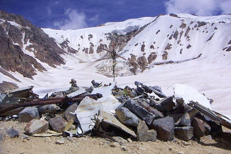 Andes Plane Crash: Flight 571 crash site.