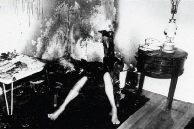 Victim (Helen Conway) of Spontaneous Human Combustion.