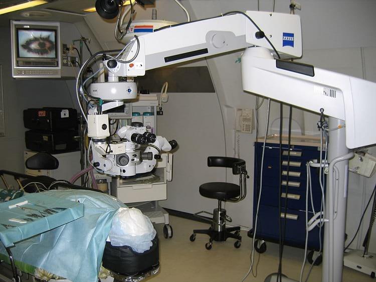 Operating room inside Orbis Flying Eye hospital.