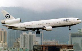 Orbis Flying Hospital departing from Kai Tai Airport.