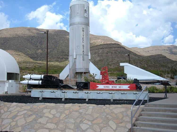 Rocket sled built by John Stapp.