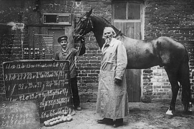 Clever Hans with his trainer Wilhelm von Osten.