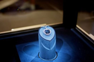 Hope diamond on display