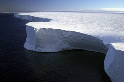 2002: The edge of Iceberg B-15A, Antarctica.