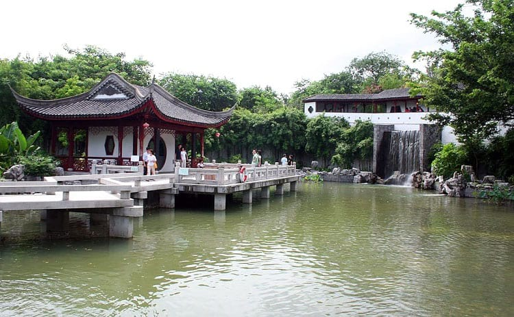 The Kowloon Walled City park.
