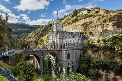 Las Lajas Sanctuary from the side.
