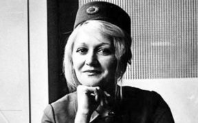 Vesna Vulovic, when she as a stewardess.