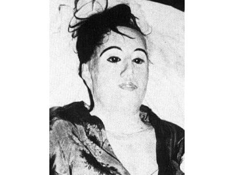 Plastered body of Elena