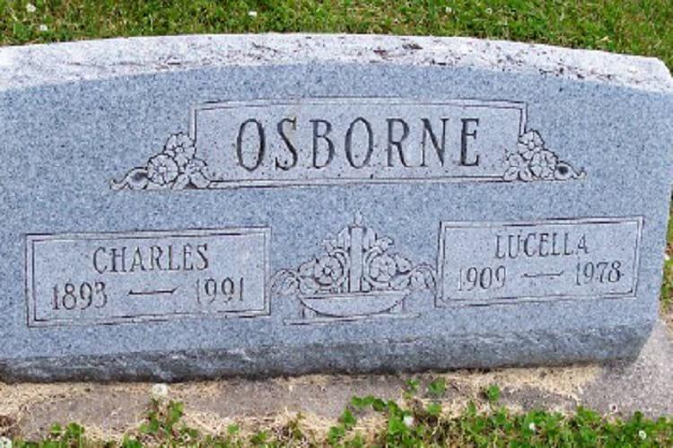 Charles Osborne grave.