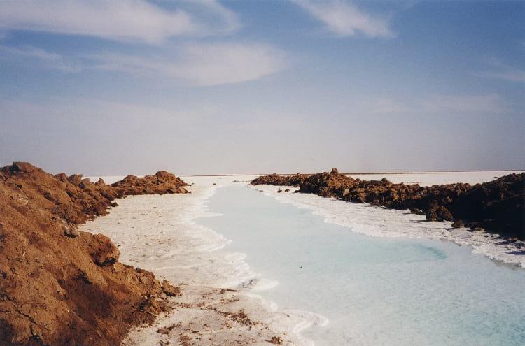 Salt lake in Dasht-e Kavir.