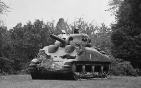 Inflatable dummy Sherman tank.