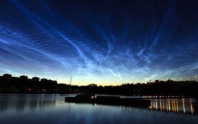 Noctilucent clouds over Stockholm