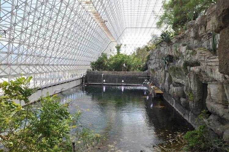Ocean and coral reef inside Biosphere 2.