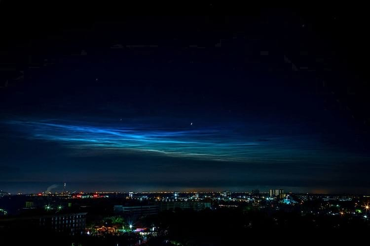 Formation of Noctilucent clouds