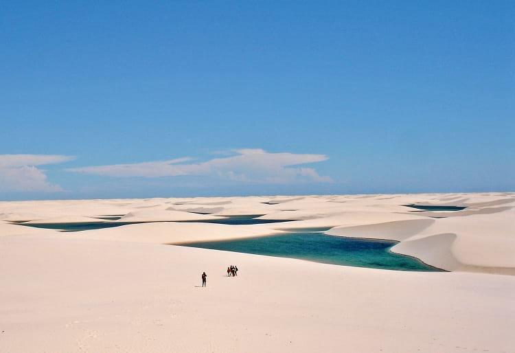 Fresh water lagoons of  Lençóis Maranhenses National Park.