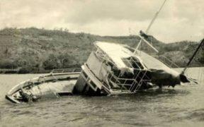 Partially sunk MV Joyita
