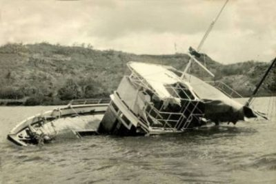 Partially sunk MV Joyita