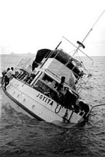 MV Joyita after being discovered.