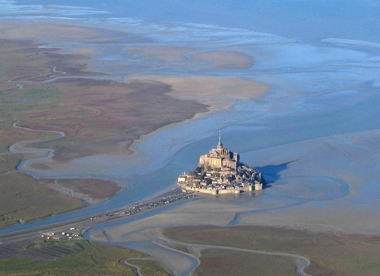 Aerial view of Mont Saint Michel