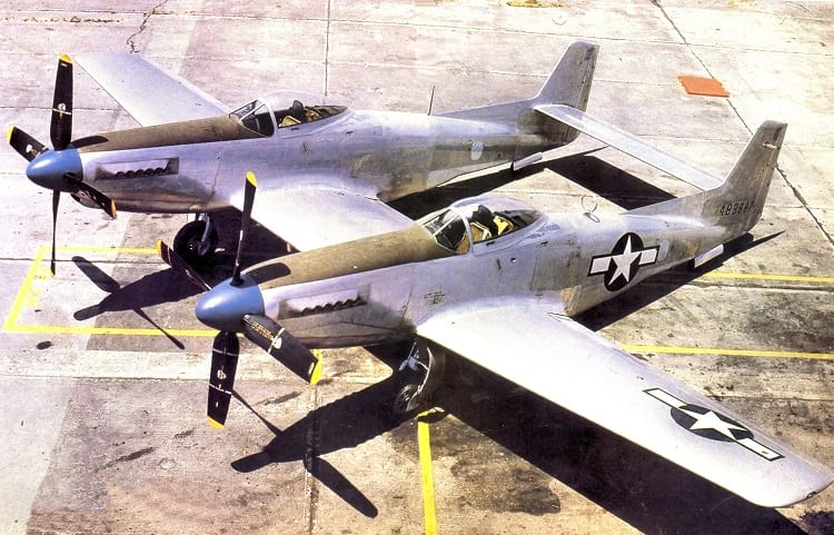 Colour photo of North American Twin Mustang