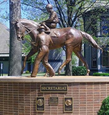 Monument of Secretariat horse