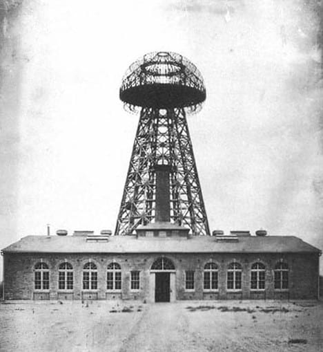 Nikola Tesla's Wardenclyffe wireless station.