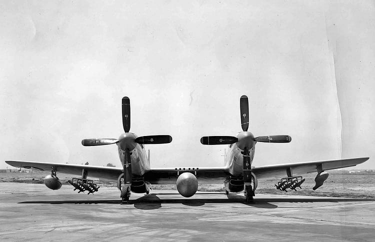 Front view of F-82 Twin Mustang
