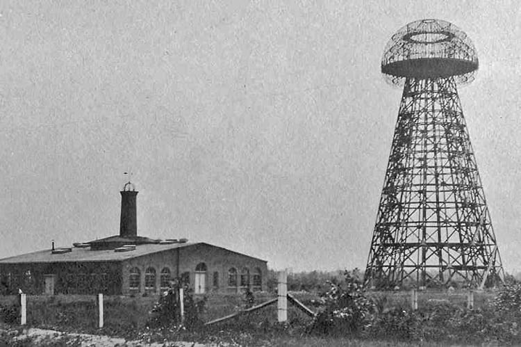 Tesla Tower or Wardenclyffe Tower in 1904