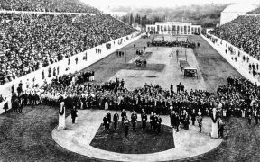 1896 Summer Olympic opening ceremony.