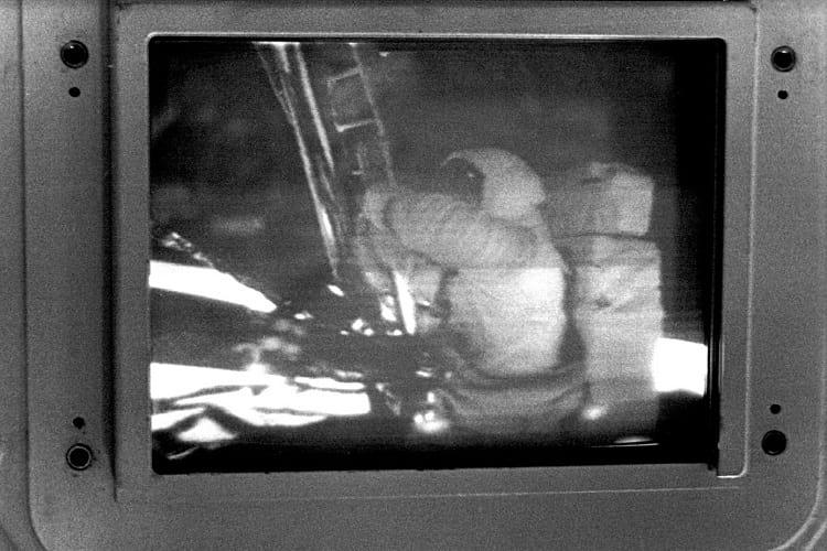 Apollo 11 slow scan television photo.