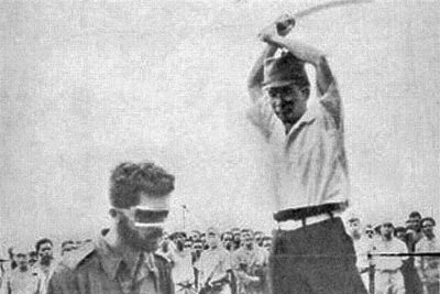 Man about to be executed.