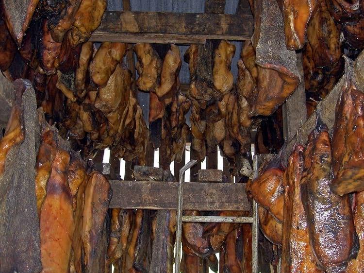 Greenland shark meat