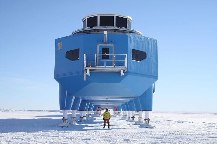 Halley research station.