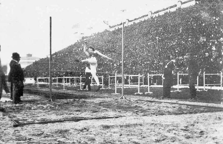 Men's high jump at 1896 Summer Olympic.