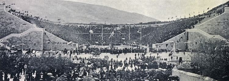 First day of 1896 Summer Olympic.