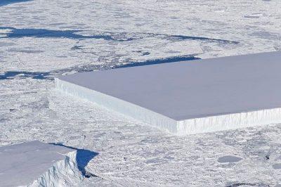 rectangle shaped iceberg