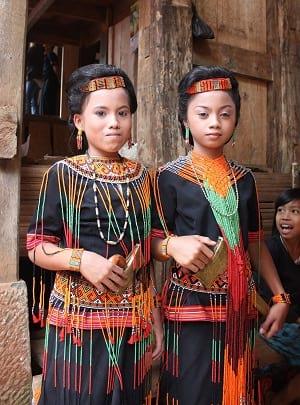 Children of Toraja ethnic group