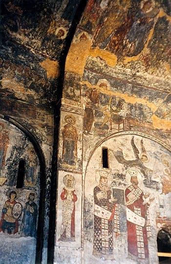 Vardzia cave mural.