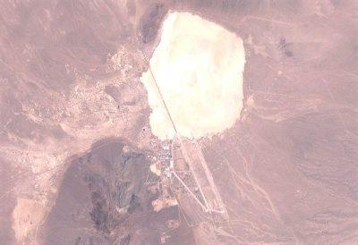 Satellite photo of Area 51.