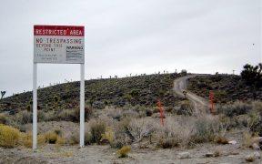A warning sign near Area 51.