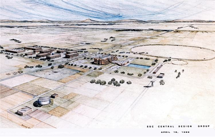 Drawing of the SSC campus area.