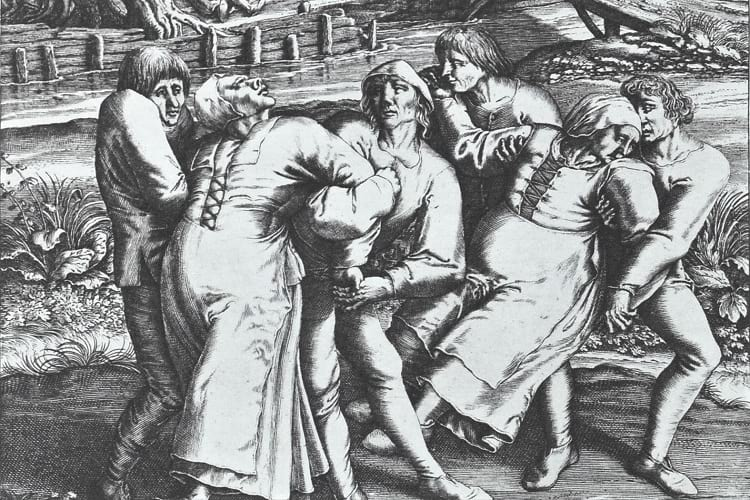 Illustration of dancing plague