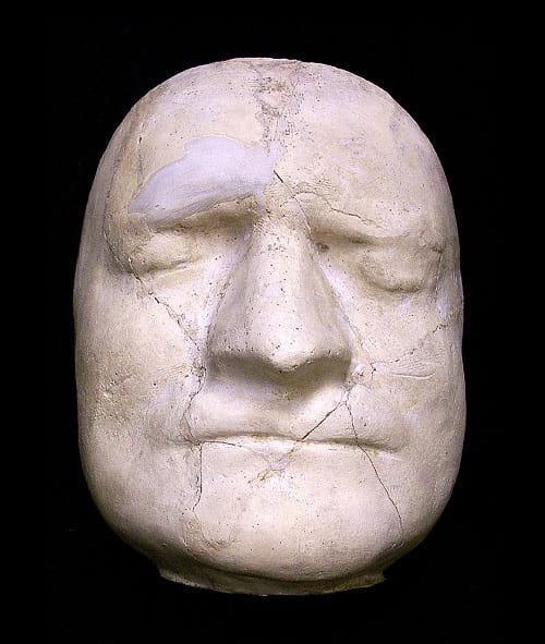 Death mask of Isaac Newton.
